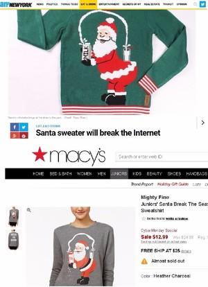 Macys Christmas Sweaters.Macy S Stole Ugly Kardashian Christmas Sweater Suit Says