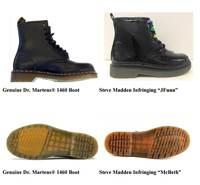 21daf98541a Dr. Martens Says Steve Madden Copied 'Iconic' Combat Boot - Law360