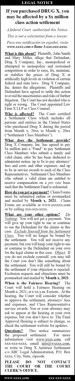 Image 2 - Sample Standard publication notice